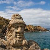 skulpturer för sculptes för lesrochersrotheneuf Arkivbild