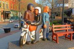 Skulpturer i St John, New Brunswick, Kanada royaltyfria bilder