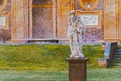 Skulpturer i villan Pamphili i Rome, Italien Arkivbild