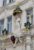 Skulptur med maltesiskt korsar Royaltyfri Foto