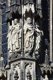 Skulpturer på domkyrkan i Aachen royaltyfri fotografi