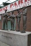 Skulpturer på Fenway Park Boston royaltyfri foto