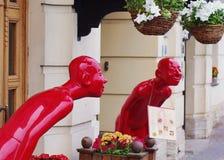 Skulpturer på kafét Arkivbild