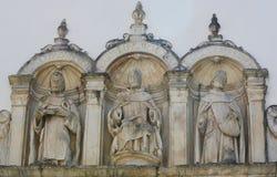 Skulpturer på Machado de Castro Museum i den historiska mitten av Royaltyfria Foton
