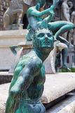 Skulpturer på Neptunstatyn i Florence arkivbild