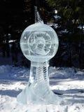 Skulpturer som göras av is - höga Tatras - Slovakien Arkivfoton