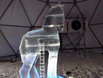 Skulpturer som göras av is - höga Tatras - Slovakien Arkivfoto