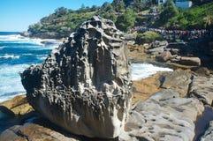 Skulpturer vid havet, Bondi strand, Sydney, Australien Arkivbilder