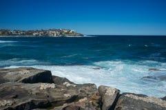 Skulpturer vid havet, Bondi strand, Sydney, Australien Arkivfoton