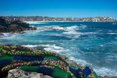 Skulpturer vid havet, Bondi strand, Sydney, Australien Royaltyfria Bilder
