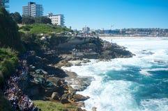 Skulpturer vid havet, Bondi strand, Sydney, Australien Royaltyfri Bild