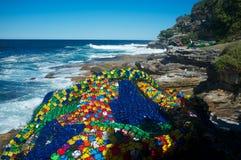Skulpturer vid havet, Bondi strand, Sydney, Australien royaltyfri foto