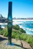 Skulpturer vid havet, Bondi strand, Sydney, Australien Arkivfoto