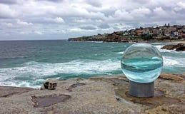 Skulpturer vid havet, Sydney Australia Arkivbild