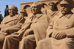 Skulpturgruppe sowjetische Politik Stockfoto