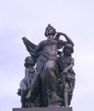 Skulpturmorgon Dresden Fotografering för Bildbyråer