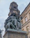 Skulpturnatt Dresden Arkivbild