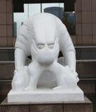 skulptursten för 5 lion Arkivfoton