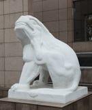 skulptursten för 8 lion Arkivfoton
