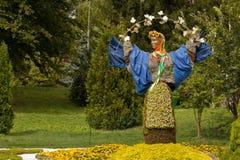 Skulptursymbol av Ukraina Arkivbild