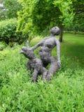 Skulpturträdgård på Annes Hathaways stuga Royaltyfri Fotografi