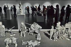 Skulpturutställning Arkivfoton