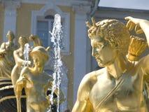 Skulpury Peterhof Stockfotos