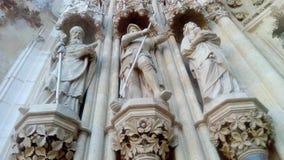 Skulpute von historischen, heiligen Persönlichkeiten Stockfoto
