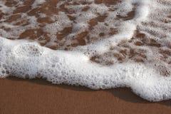 skum för 2 strand Arkivbilder
