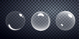 Skum för bubblatvålvektor från schampo Arkivfoto