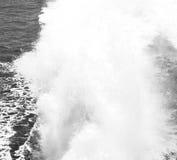 skumma och skumma i havet av medelhavs- Grekland Royaltyfri Bild