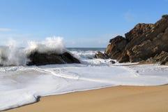 skumma waves för strand fotografering för bildbyråer