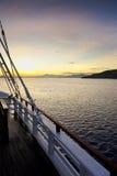 Skuneru wschód słońca Zdjęcia Royalty Free