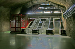 SKungstradgarden station of the Stockholm metro Royalty Free Stock Image