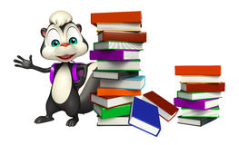 Skunk cartoon character with book Royalty Free Stock Photography