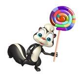 Skunk cartoon character with lollypop Stock Photo
