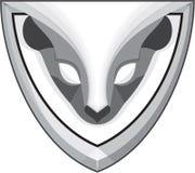 Skunk Head Front Shield Retro Stock Photography