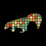Skunk mammal color silhouette animal royalty free illustration