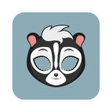 Skunk mask for festivities Royalty Free Stock Images