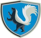 Skunk Prancing Side Crest Retro Royalty Free Stock Photo