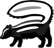 skunk striped бесплатная иллюстрация