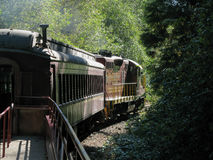 The Skunk Train in Northern California Stock Images