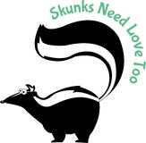 Skunks Need Love Too Royalty Free Stock Photos