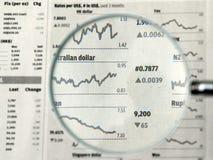 skup się waluty Zdjęcia Stock