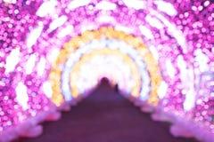 Skupiający się abstrakcjonistyczni tła Chrismas światła, plamy bokeh stylowa robi scena fotografia royalty free