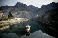 Skurda河,科托尔,黑山 免版税库存图片
