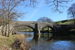 Skurk av den Lune bron nära Beckfoot, Cumbria royaltyfri fotografi