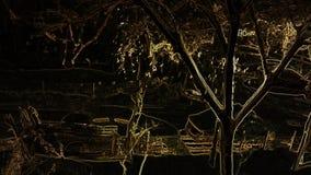 Skurkroll som snöar på natten stock video