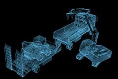 Skurkrollkonstruktionsmaskineri Royaltyfria Foton