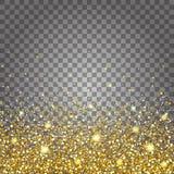 Skutek latać części złocistej błyskotliwości projekta luksusowego bogatego tło Światło - szary tła dno Stardust iskra Zdjęcie Stock